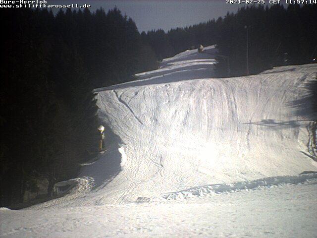 Winterberg Vakantie webcam skipiste 6 Bure-Herrloh